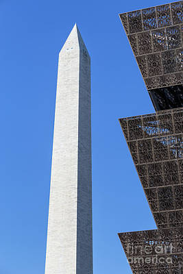 Nmaahc And Washington Monument I Poster by Clarence Holmes