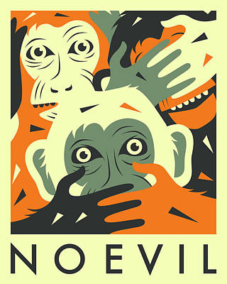 No Evil Poster by Jazzberry Blue