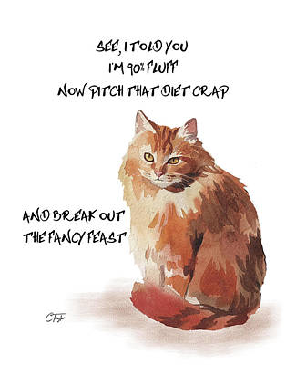 Poster featuring the painting No Fat Cat by Colleen Taylor