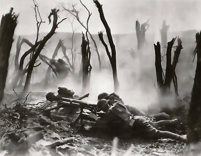 No Man's Land - Trench Warfare - World War One Poster by Daniel Hagerman