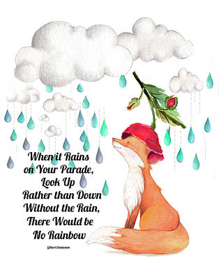 No Rain On My Parade Poster by Colleen Taylor