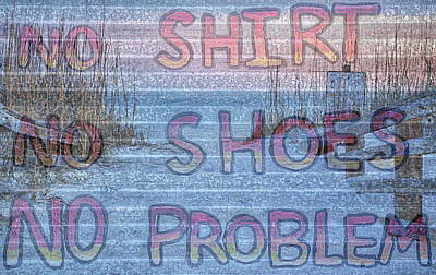 No Shirt No Shoes No Problem Panama City Beach Poster by JC Findley