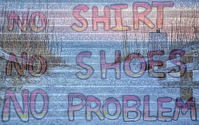 No Shirt No Shoes No Problem Panama City Beach Poster