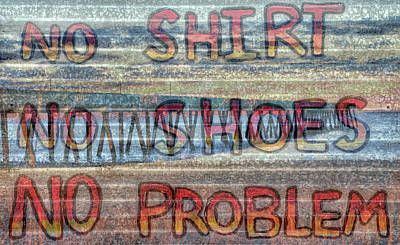 No Shirt No Shoes No Problem Wrightsville Beach Poster by JC Findley