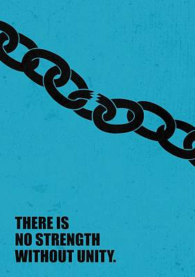 No Strength Without Unity Business Quotes Poster Poster by Lab No 4