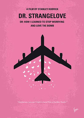 No025 My Dr Strangelove Minimal Movie Poster Poster by Chungkong Art