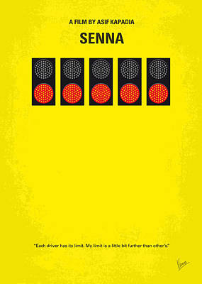 No075 My Senna Minimal Movie Poster Poster by Chungkong Art