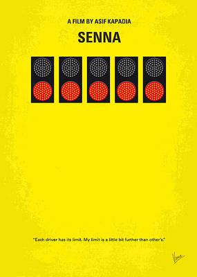No075 My Senna Minimal Movie Poster Poster by Chungkong Art