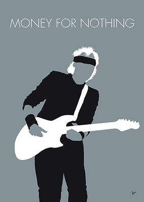 No107 My Mark Knopfler Minimal Music Poster Poster