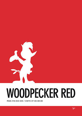 No12 My Minimal Color Code Poster Woody Woodpecker Poster by Chungkong Art