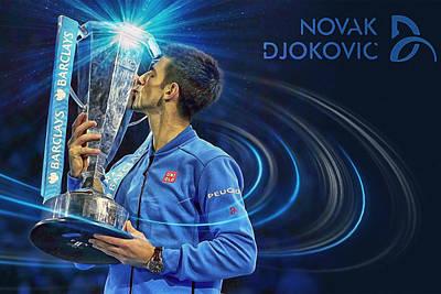 No1e  -  Novak Djokovic Poster by Nenad Cerovic