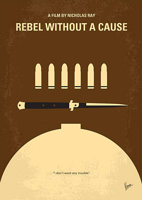 No318 My Rebel Without A Cause Minimal Movie Poster Poster