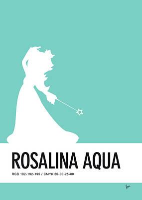 No39 My Minimal Color Code Poster Rosalina Poster by Chungkong Art