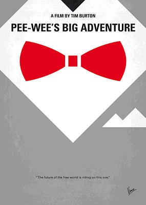 No511 My Pee Wees Big Adventure Minimal Movie Poster Poster