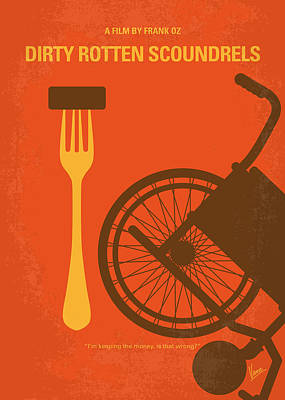 No536 My Dirty Rotten Scoundrels Minimal Movie Poster Poster by Chungkong Art
