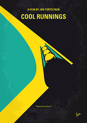 No538 My Cool Runnings Minimal Movie Poster Poster by Chungkong Art