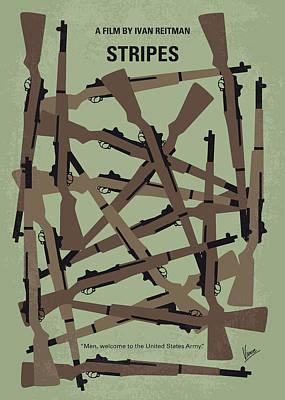 No542 My Stripes Minimal Movie Poster Poster by Chungkong Art
