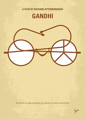 No543 My Gandhi Minimal Movie Poster Poster by Chungkong Art