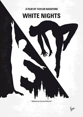 No554 My White Nights Minimal Movie Poster Poster