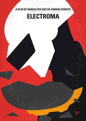 No556 My Electroma Minimal Movie Poster Poster by Chungkong Art