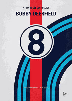 No565 My Bobby Deerfield Minimal Movie Poster Poster by Chungkong Art