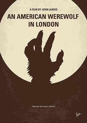 No593 My American Werewolf In London Minimal Movie Poster Poster by Chungkong Art