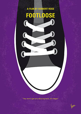 No610 My Footloose Minimal Movie Poster Poster by Chungkong Art