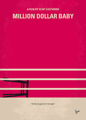 No613 My Million Dollar Baby Minimal Movie Poster Poster