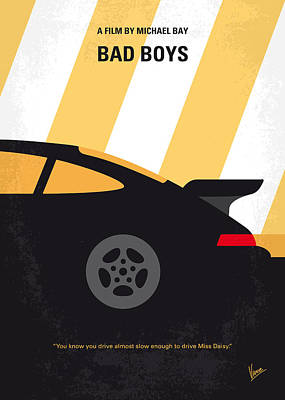 No627 My Bad Boys Minimal Movie Poster Poster by Chungkong Art