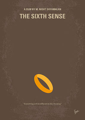 No638 My The Sixth Sense Minimal Movie Poster Poster by Chungkong Art