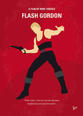 No632 My Flash Gordon Minimal Movie Poster Poster by Chungkong Art