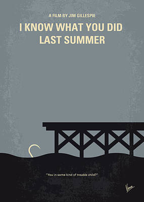 No650 My I Know What You Did Last Summer Minimal Movie Poster Poster by Chungkong Art