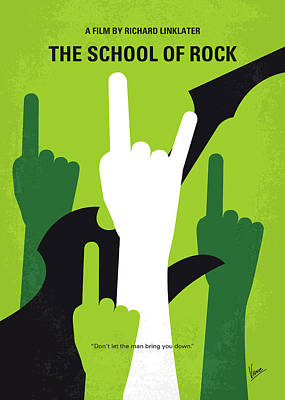 No668 My The School Of Rock Minimal Movie Poster Poster by Chungkong Art