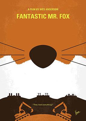 No673 My Fantastic Mr Fox Minimal Movie Poster Poster