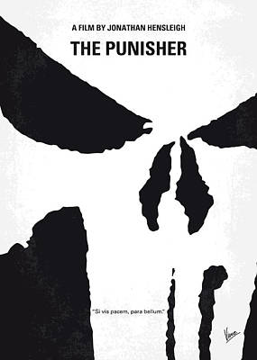No676 My The Punisher Minimal Movie Poster Poster by Chungkong Art