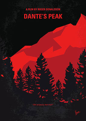 No682 My Dantes Peak Minimal Movie Poster Poster