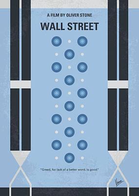 No683 My Wall Street Minimal Movie Poster Poster by Chungkong Art
