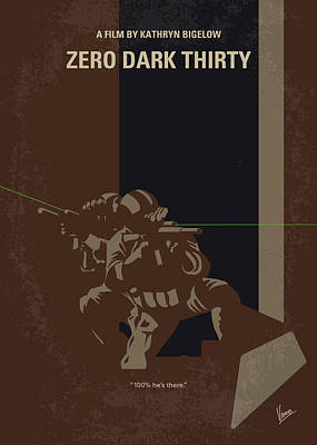 No692 My Zero Dark Thirty Minimal Movie Poster Poster by Chungkong Art