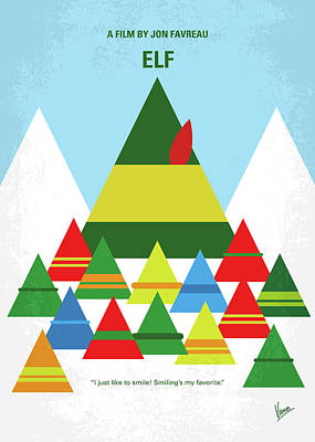 No699 My Elf Minimal Movie Poster Poster