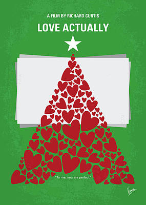 No701 My Love Actually Minimal Movie Poster Poster by Chungkong Art
