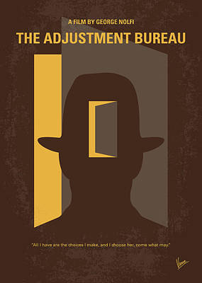No710 My The Adjustment Bureau Minimal Movie Poster Poster