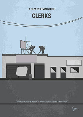 No715 My Clerks Minimal Movie Poster Poster by Chungkong Art