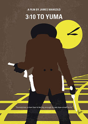 No726 My 310 To Yuma Minimal Movie Poster Poster by Chungkong Art