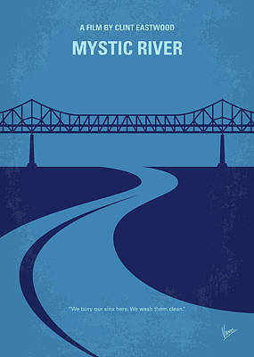 No729 My Mystic River Minimal Movie Poster Poster by Chungkong Art