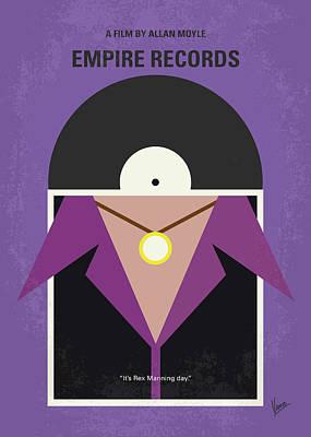 No750 My Empire Records Minimal Movie Poster Poster by Chungkong Art