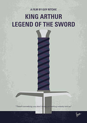 No751 My King Arthur Legend Of The Sword Minimal Movie Poster Poster by Chungkong Art