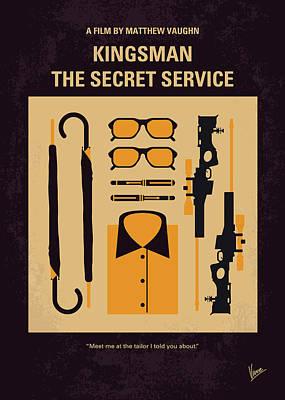 No758 My Kingsman Minimal Movie Poster Poster by Chungkong Art