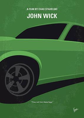 No759 My John Wick Minimal Movie Poster Poster