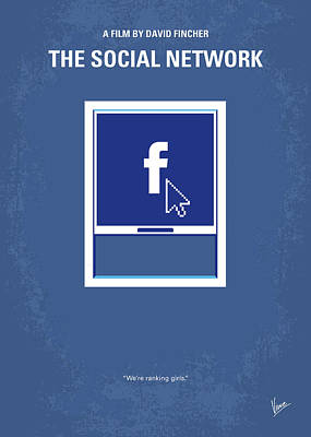 No779 My The Social Network Minimal Movie Poster Poster by Chungkong Art