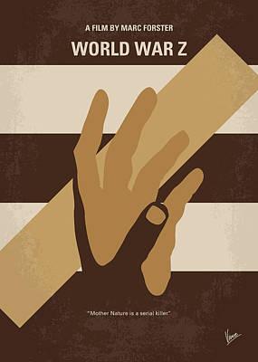 No783 My World War Z Minimal Movie Poster Poster by Chungkong Art